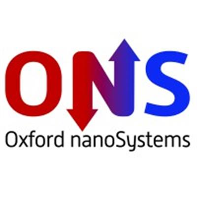 Oxford nanoSystems logo - red and blue 'ONS'